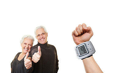 Automatic Memory Blood Pressure Wrist Digital Heart Beat Pulse Measure