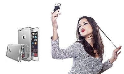 Mirror Surface Screw Design Aluminum Metal Frame Case Apple iphone 6 6s