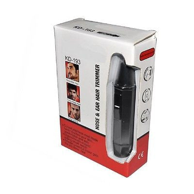 Travel Size Cordless Electric Nose and Facial Hair Trimmer with Vacuum Cleaning