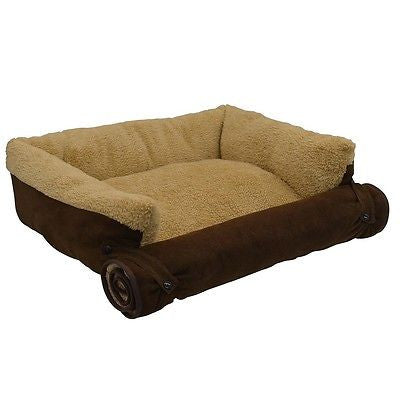 Comfortable Plush Couch Pet Cozy Bed Dogs Cats Small Animal Adjustable