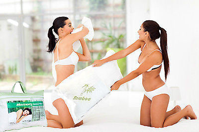 Organic Hotel Pillows Bamboo Memory Foam Comfort Pillow 2 Pack