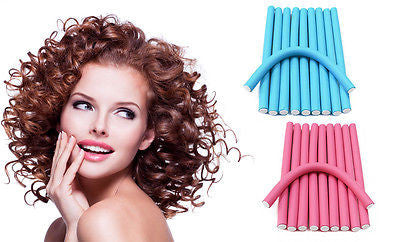 10Pcs Foam Roller Hair Curlers Twist Magic Air Hair Roller Styling Hair Sticks