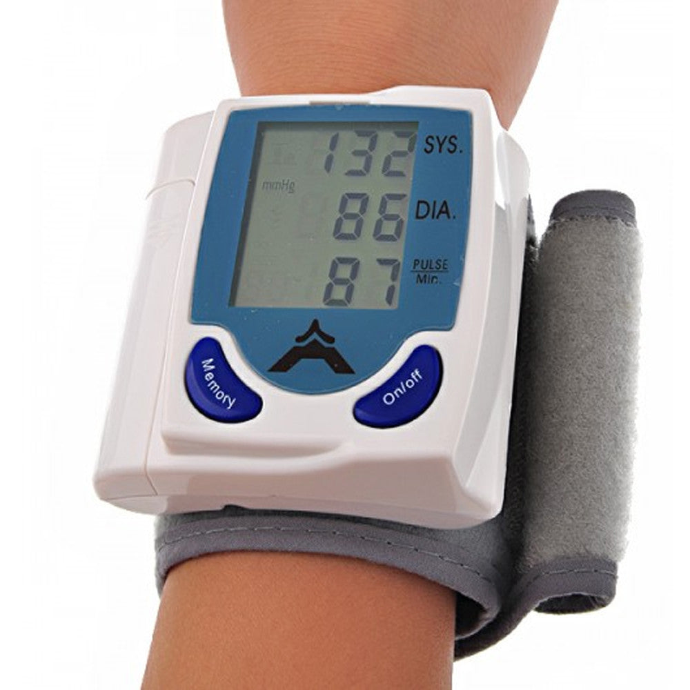 HeartHealth Plus Automatic Blood Pressure Monitor Smart Wrist Watch With Case