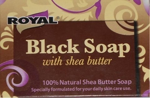 Certified Black Soap Beauty Bar with Shea Butter Cleanes Skin