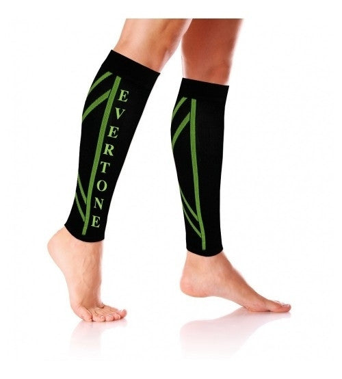 2 Evertone Fitness Compression Calf Sleeves Leg Support Socks Shin Splints Sleeves
