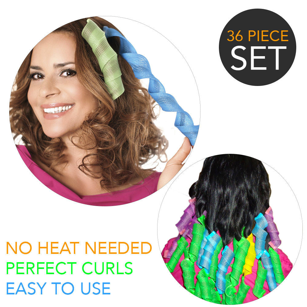 New Hair WavZ No Heat Required No Hair Damage Hair Curler Set Wave Maker