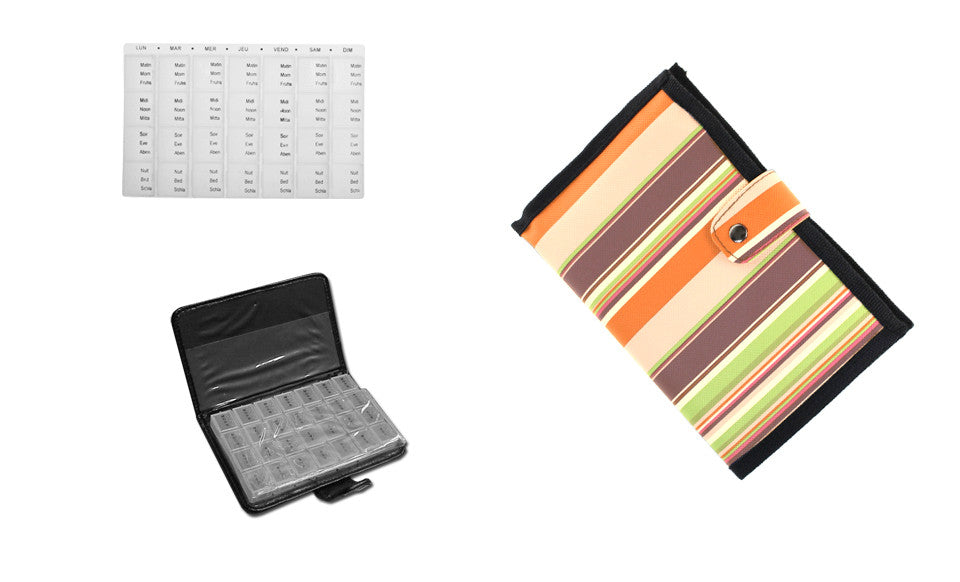 Easy Weekly Pill and Vitamin Organizer in Travel Wallet Prescription And  Medication Organizer with Pill Case