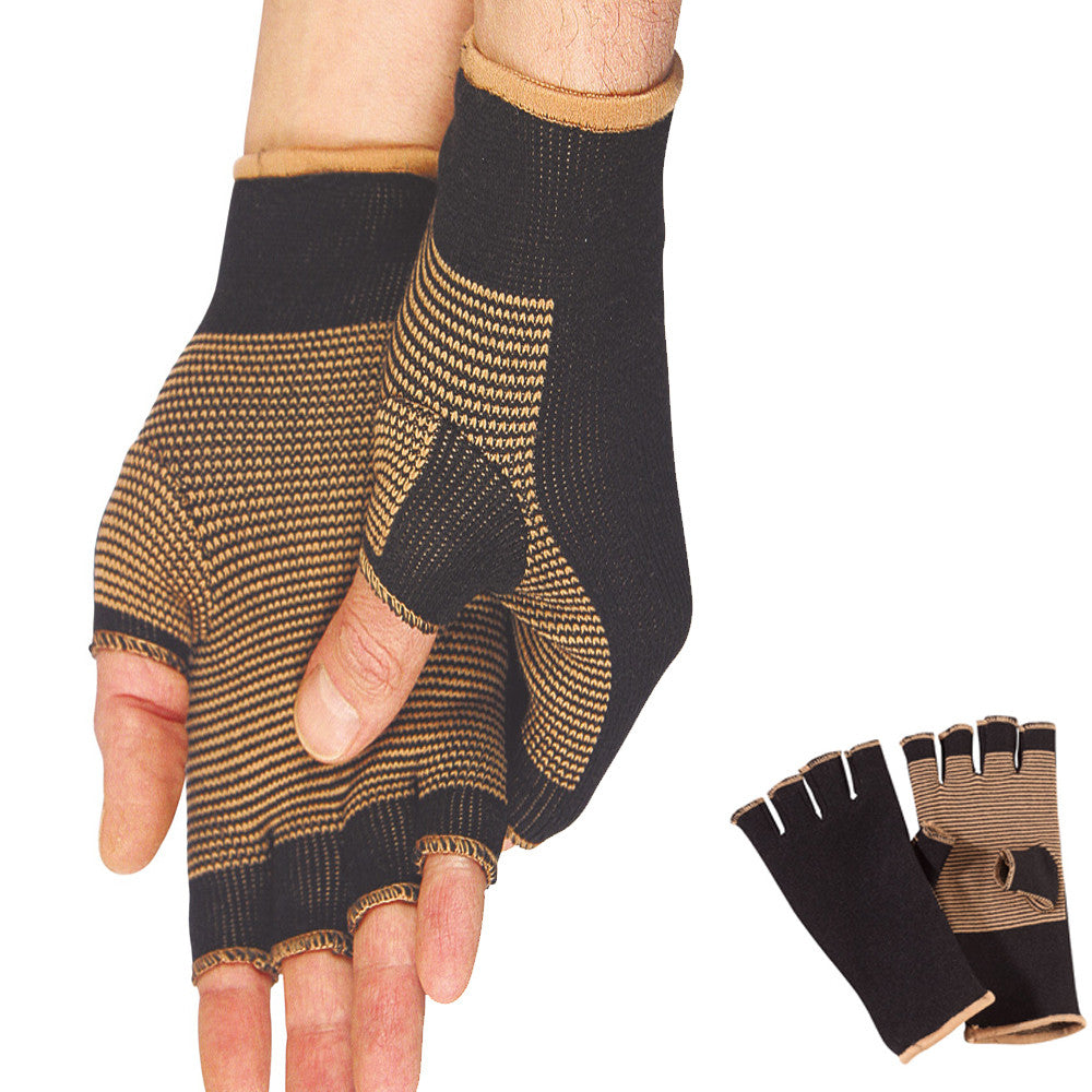 Premium Doctor Certified Therapy Copper-Infused Compression Gloves Helps Fight Bacteria
