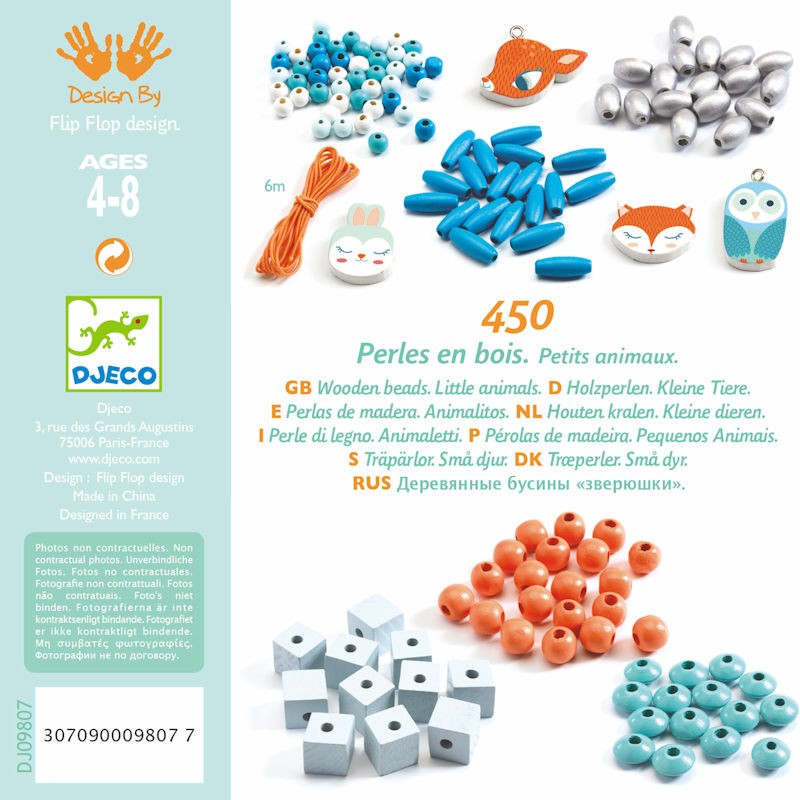 Djeco Wooden Beads - Little Animals