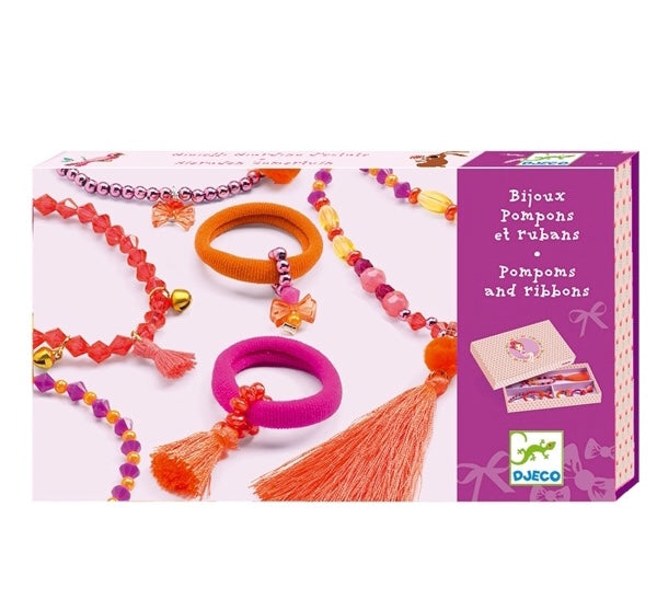 Djeco Jewels - Pompoms and Ribbons