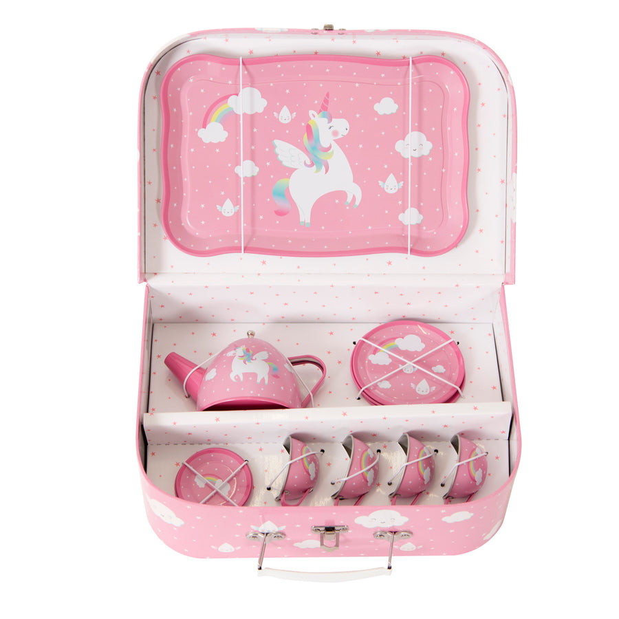 RAINBOW UNICORN PICNIC BOX TEA SET