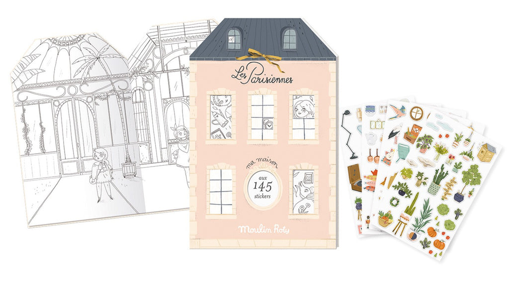 Les Parisienne Sticker Book by Moulin Roty