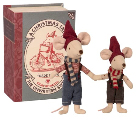 Maileg Christmas Mice in a Book