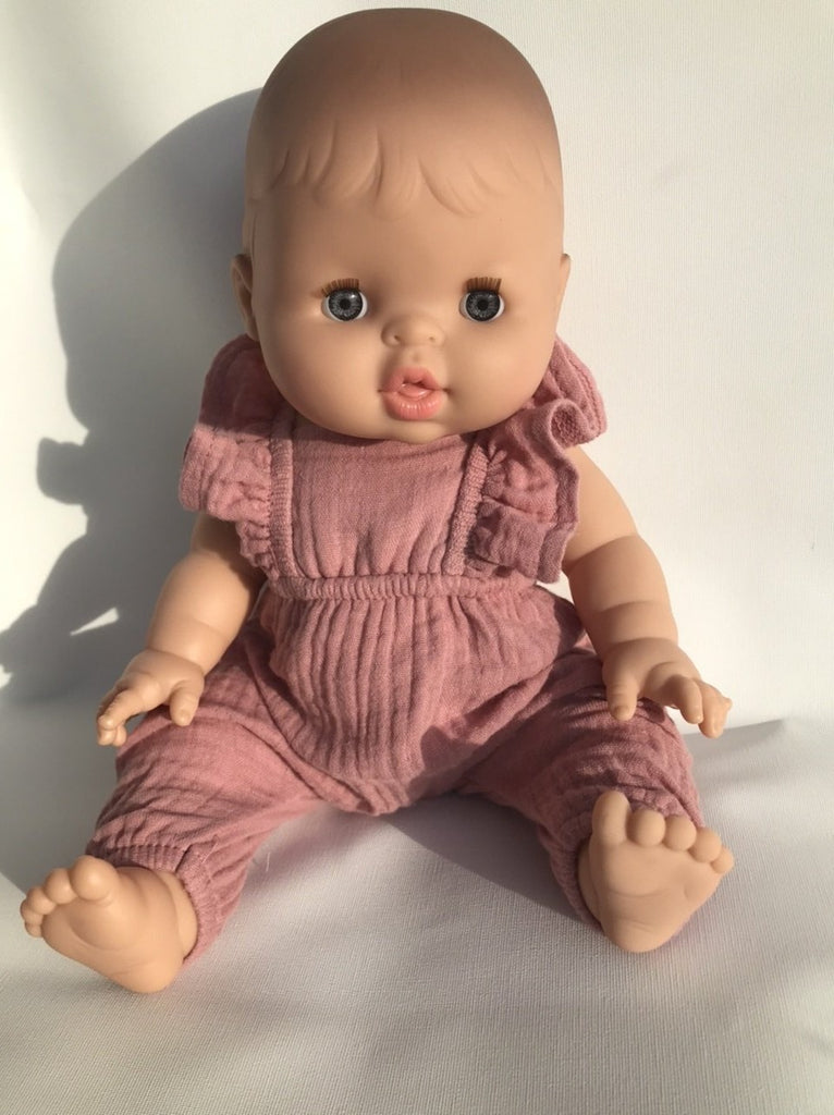 Alicia Baby Doll in Dusty Rose Jumpsuit
