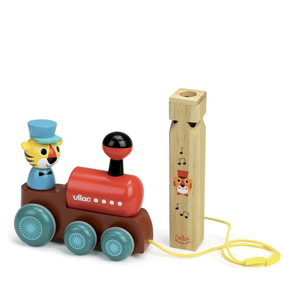 Vilac Ingela P. Arrhenius – Train Pull Toy with a Whistle