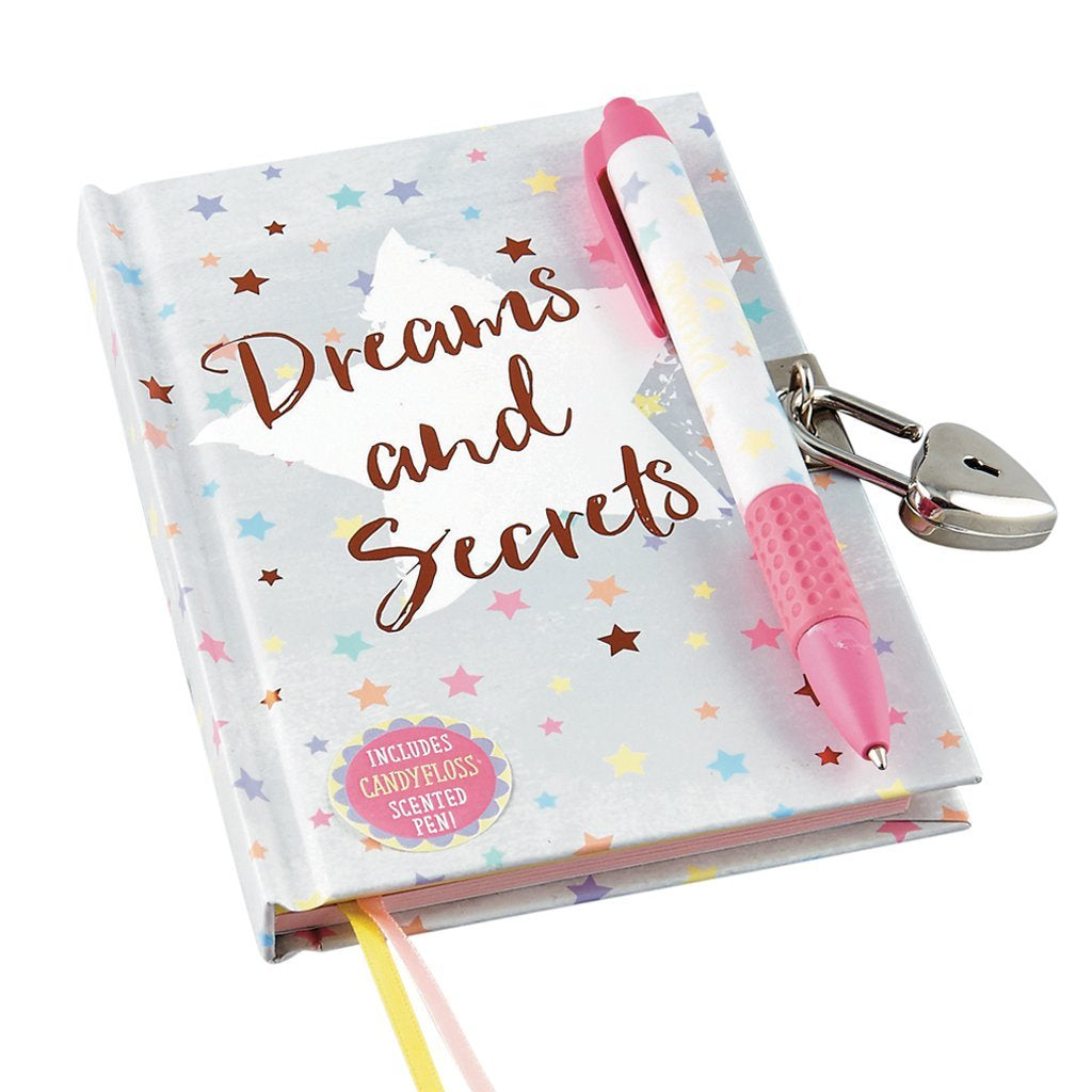 Dreams Diary with Candy Floss Scented Pen