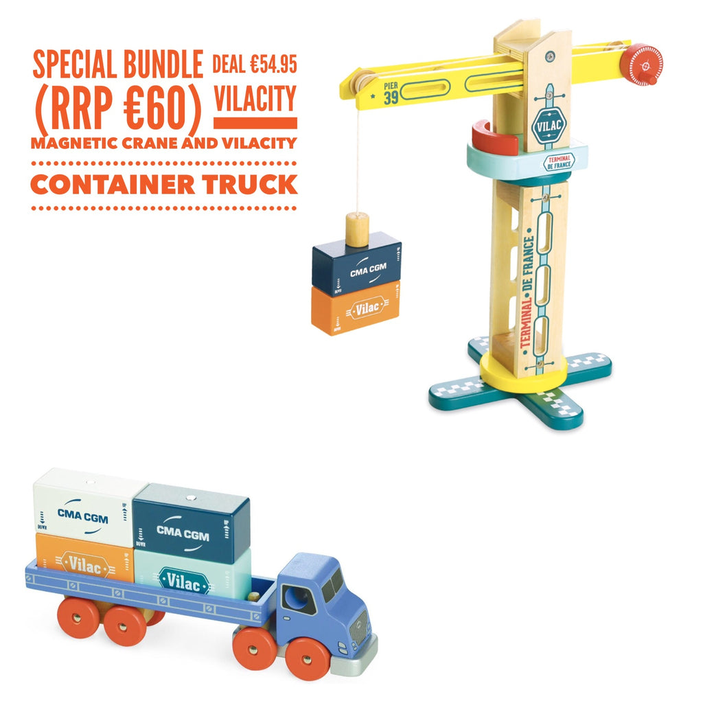 Vilacity Crane and Container Truck Bundle Deal