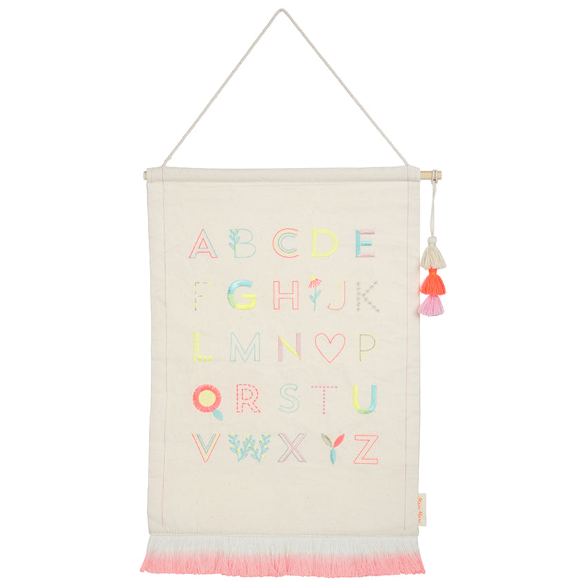 Alphabet Wall Hanging (pink)