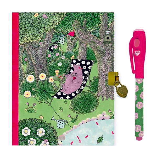 Fanny Secret Notebook with Magic Pen by Djeco