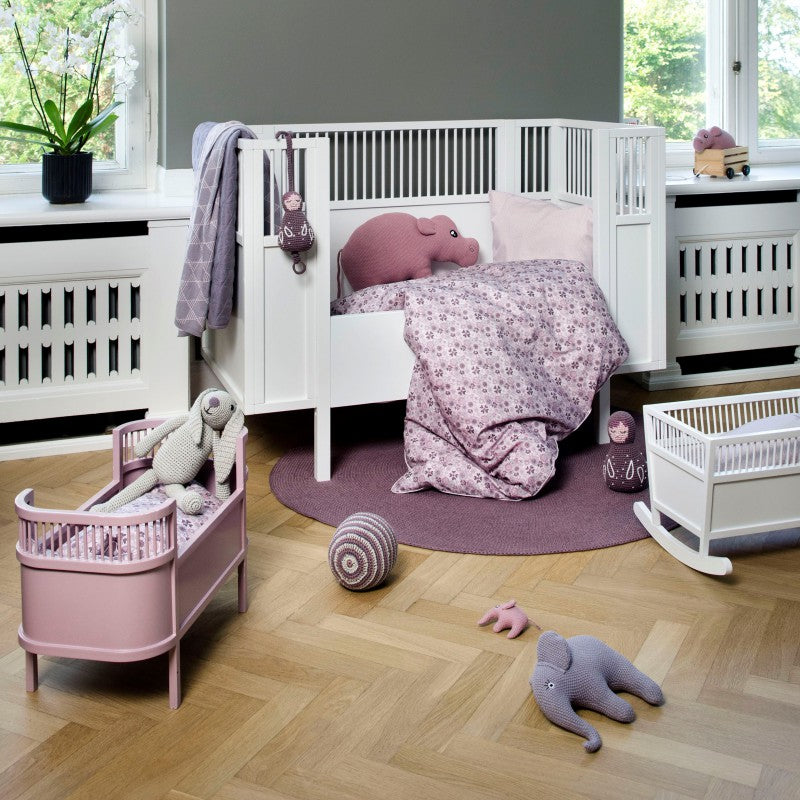 Rosaline wooden doll bed - Powder