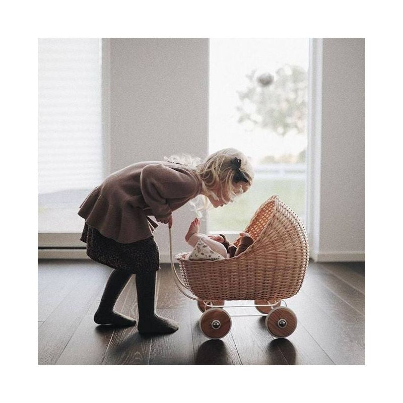 Smallstuff Wicker Pram Natural