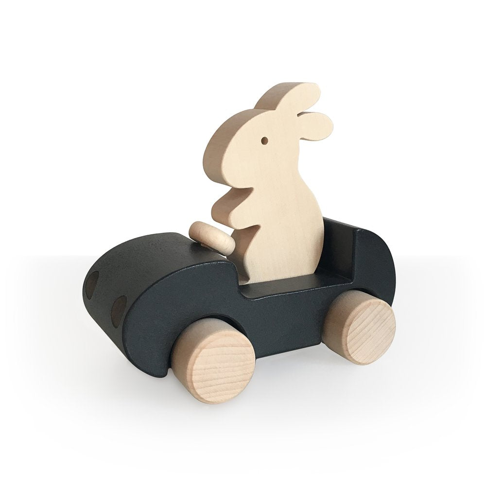 BRIKI vroom vroom Bunny Car BLACK