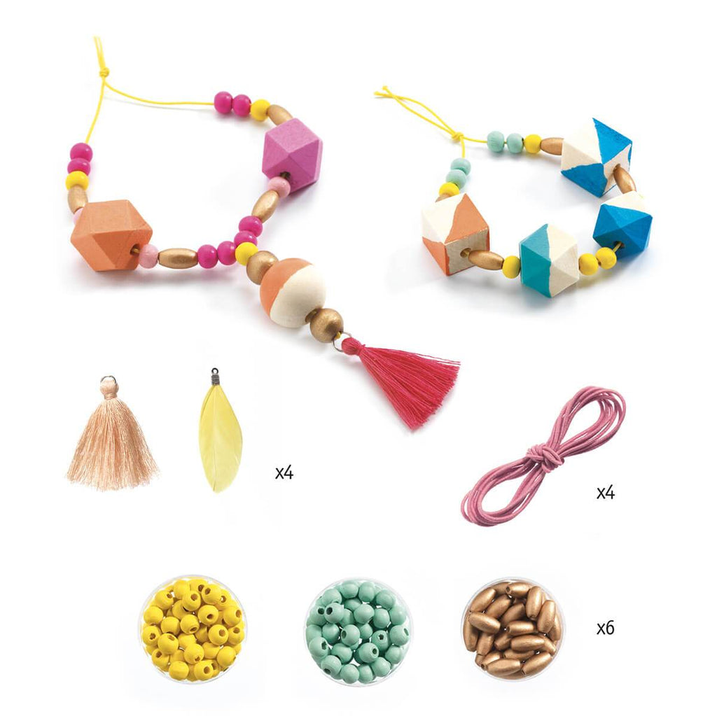 Djeco Oh! Les Perles! Wooden Beads & Cubes