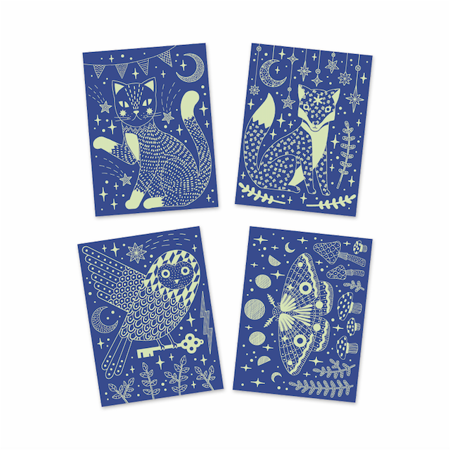 Glow In the Dark Scratch Cards - At Night