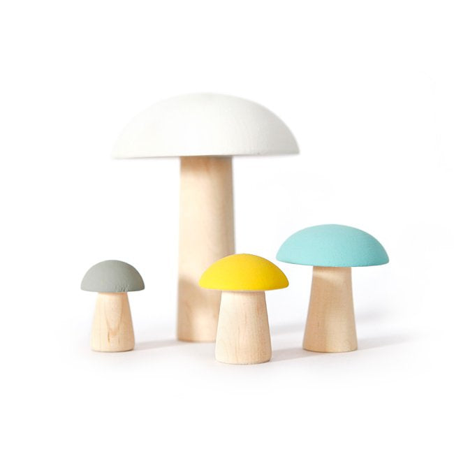 BRIKI VROOM VROOM | WOODEN MUSHROOMS | YELLOW