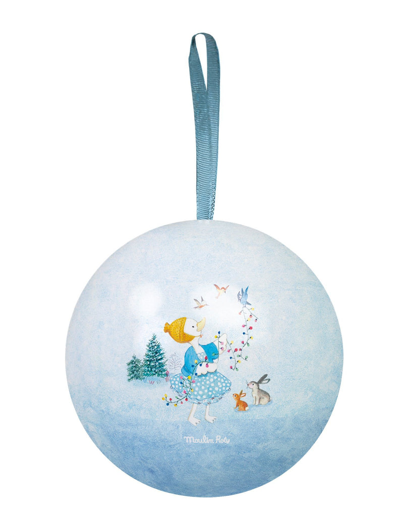 Moulin Roty La Grande Famille BLUE Christmas Ornament