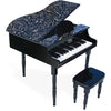 Vilac Grand Piano & Stool Black
