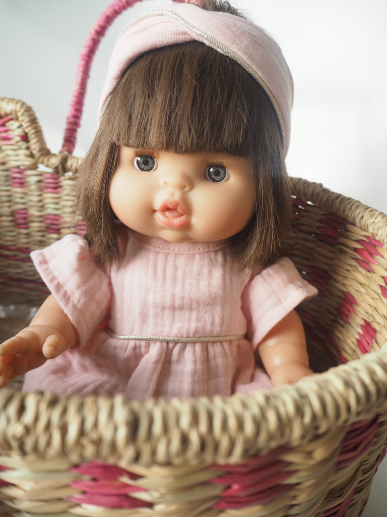 Chloe Doll in Pink & Silver Turban & Tunic