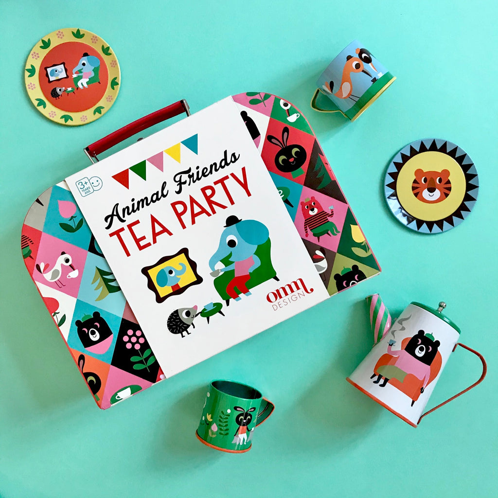 ANIMAL TEA PARTY TEA SET