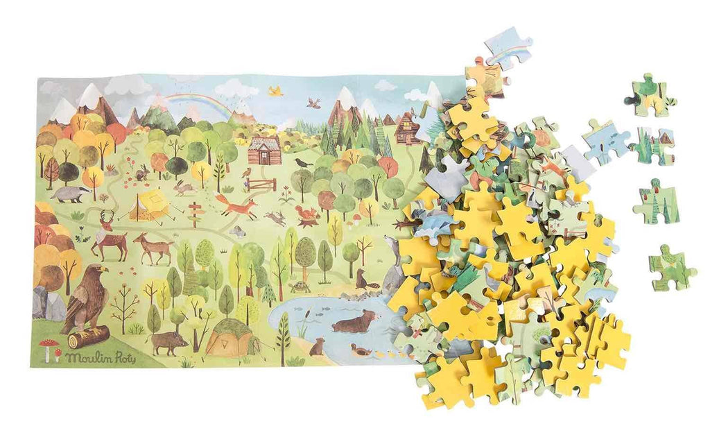 Moulin Roty - Explorer's 96-piece jigsaw puzzle - Forest