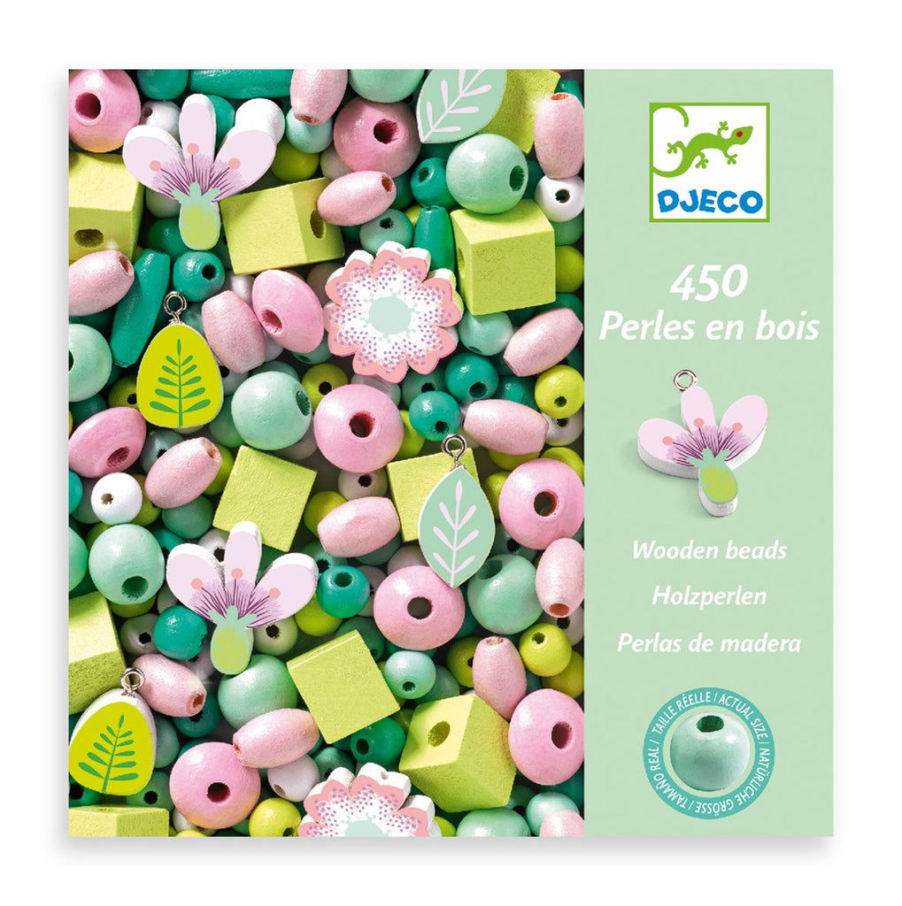 Djeco Wooden Beads - Flowers & Foliage