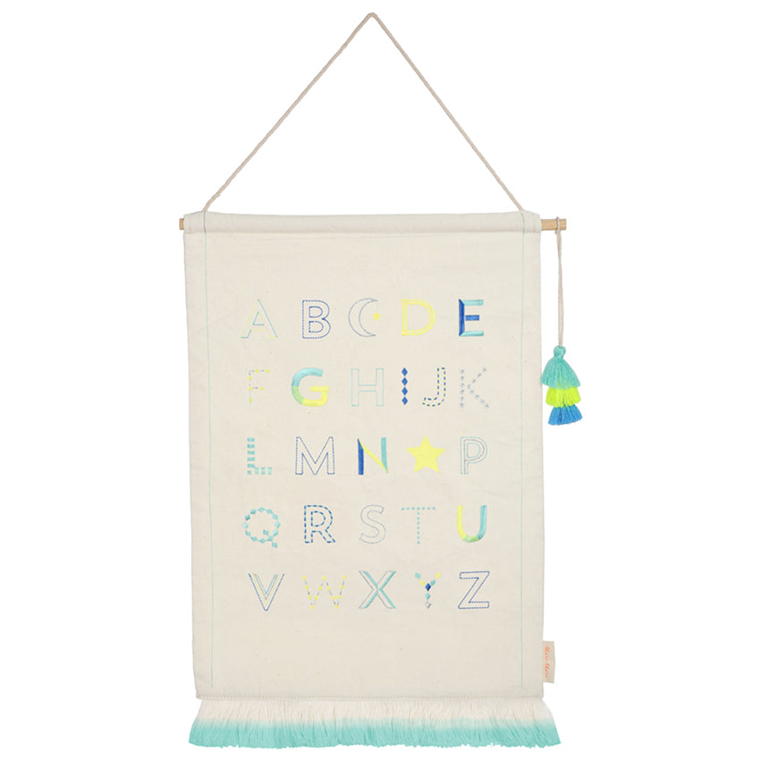 Alphabet Wall Hanging (blue)
