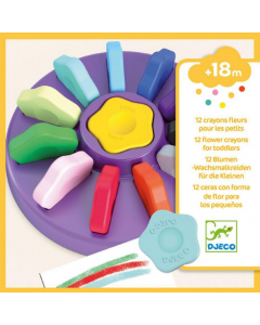 Djeco12 Flower Crayons for Toddler