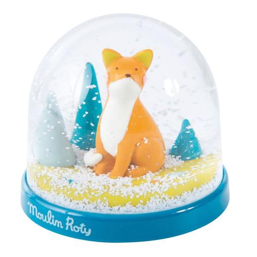 Moulin Roty Chausette the Fox Snow Globe