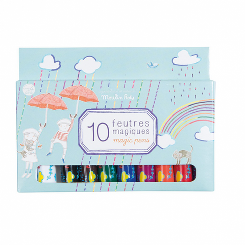 Moulin Roty Box of 10 Magic Pens