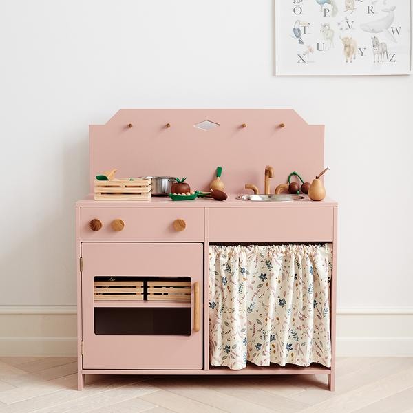 Play Kitchen - FSC Dusty Rose / Pressed Leaves Rose