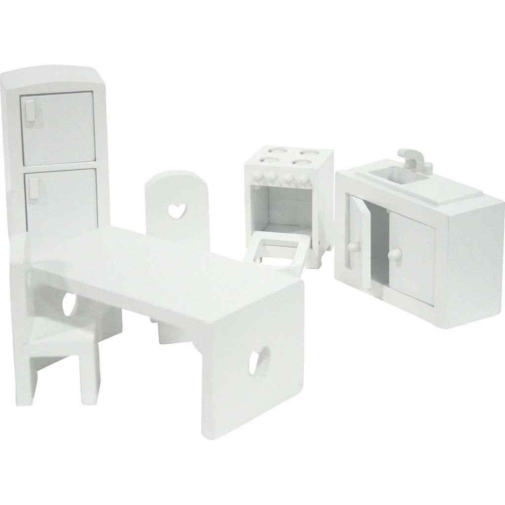 White Dolls House Furniture Set