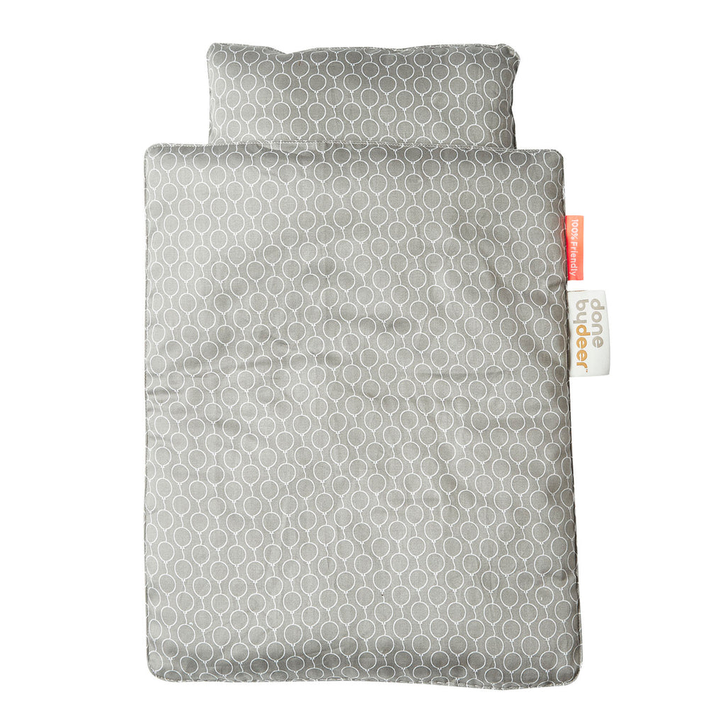 Bedding for Tiny Cot - Grey Balloons