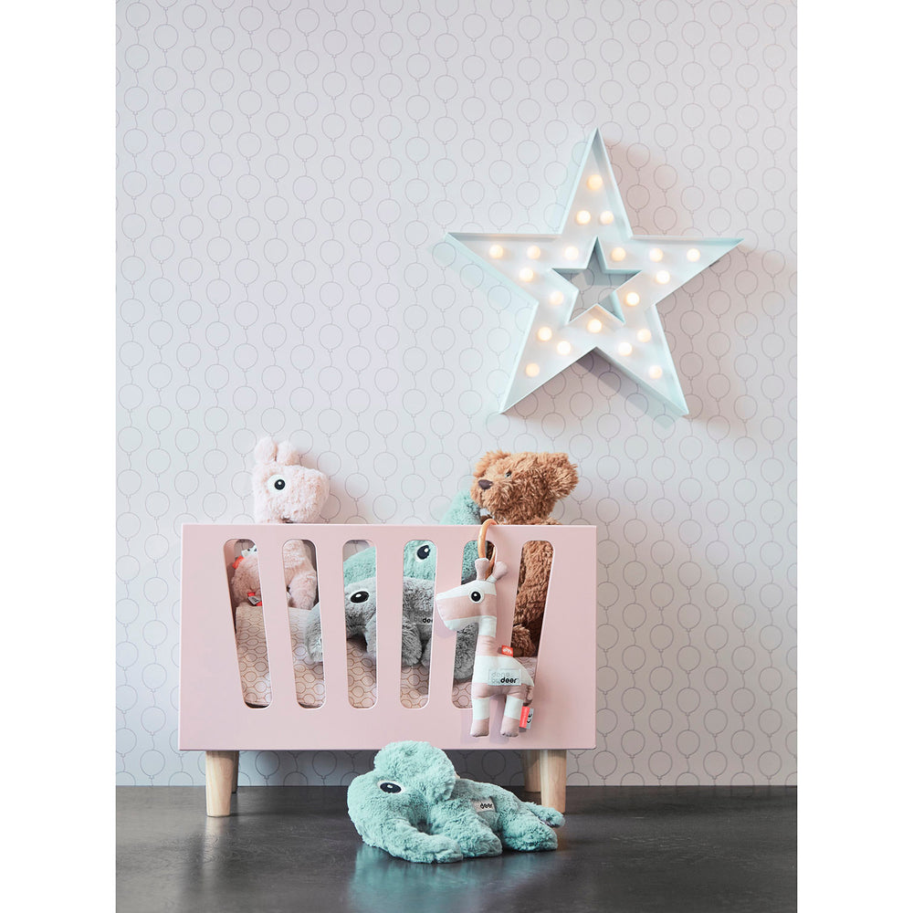 Bedding for Tiny Cot - Powder Pink