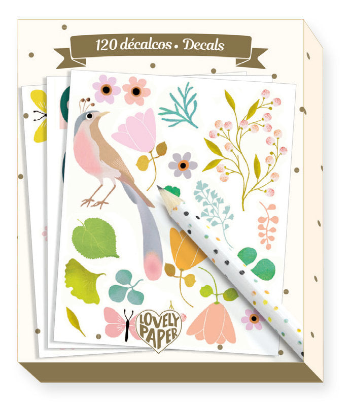 Djeco Lovely Paper : 120 Decals - Tinou