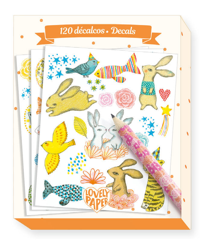 Djeco Lovely Paper : 120 Decals - Elodie