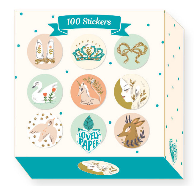 Djeco Lovely Paper : 100 Stickers Lucille