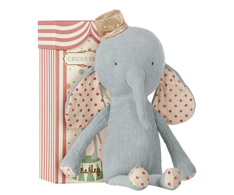 Maileg Circus Friends, Elephant with hat, Blue