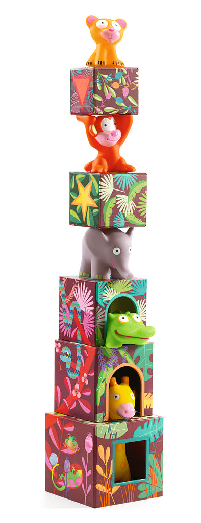 Djeco Stacking Cubes Maxi Topanijungle