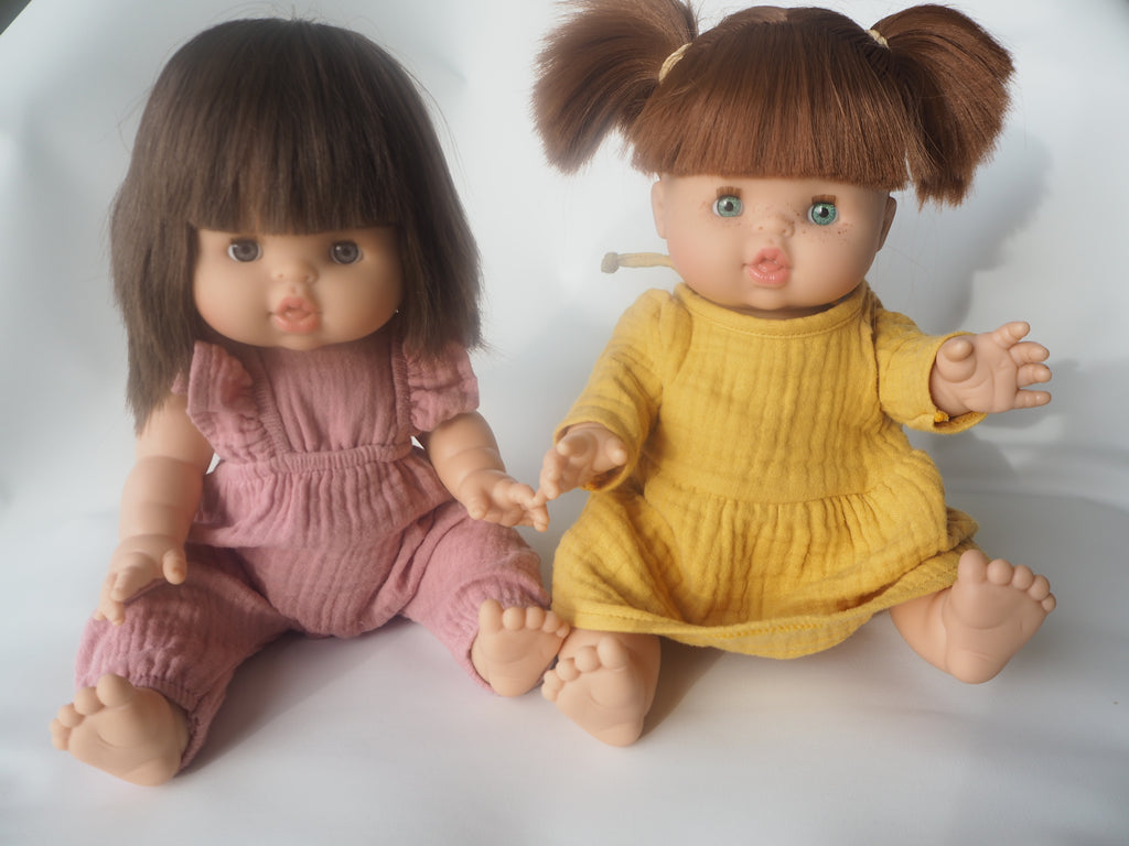 Gabrielle Doll In Yellow Cotton Dress