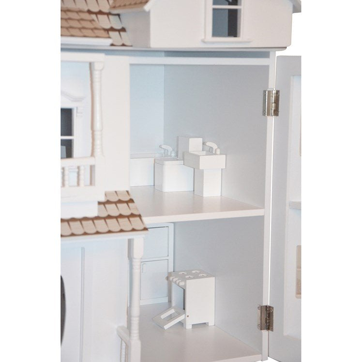 White Victorian Style Dolls House